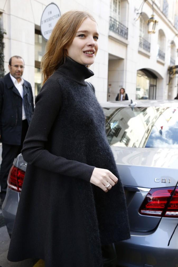 Natalia Vodianova à Paris le 5 mars 2014