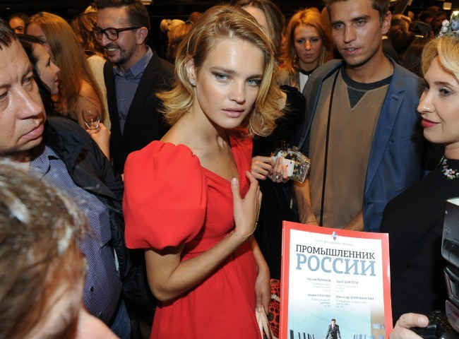 Natalia Vodianova lors de la Vogue's Fashion Night Out à Moscou, le 6 septembre 2012.