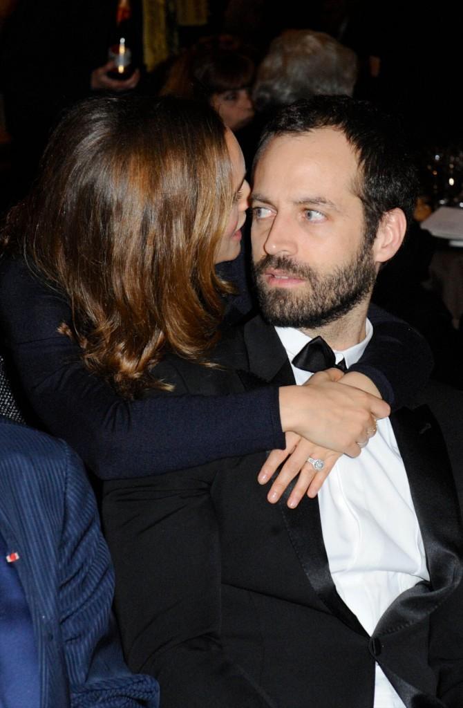 Natalie Portman et Benjamin Millepied le 12 janvier 2015