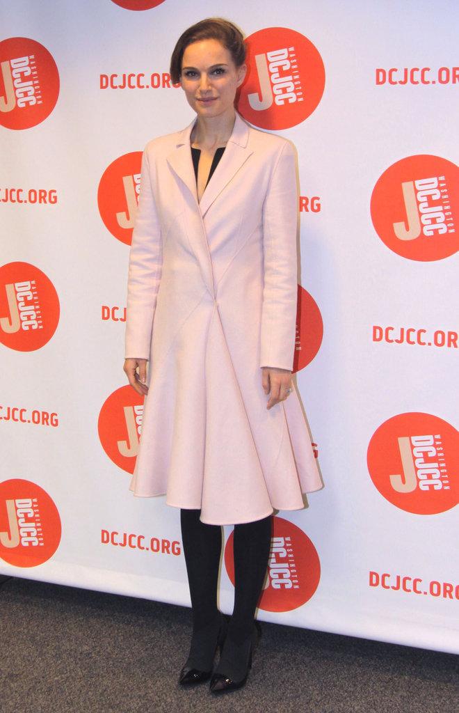 Natalie Portman s'est affichée dans un manteau rose pâle