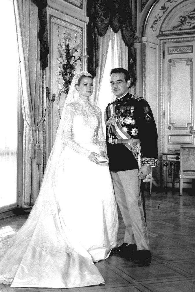 Grace Kelly et Prince Rainier de Monaco