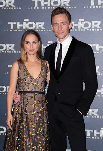 Natalie Portman et Tom Hiddleston à Paris le 23 octobre 2013