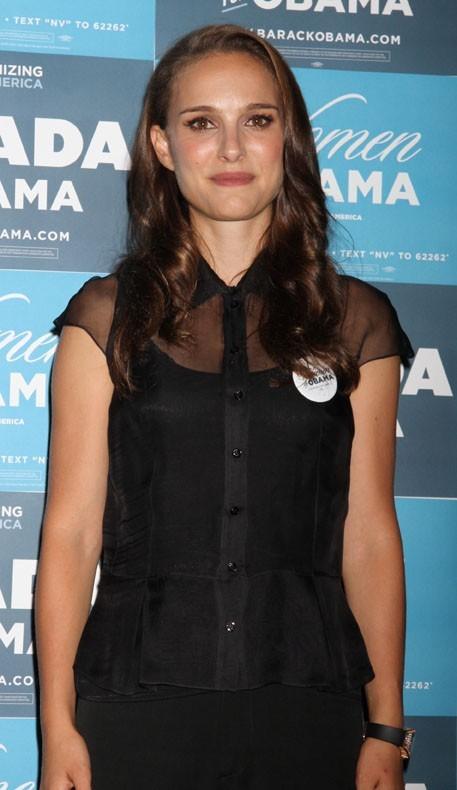 Natalie Portman à Las Vegas le 25 août 2012 pour soutenir Barack Obama