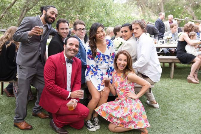 Naya Rivera au mariage d'Heather Morris