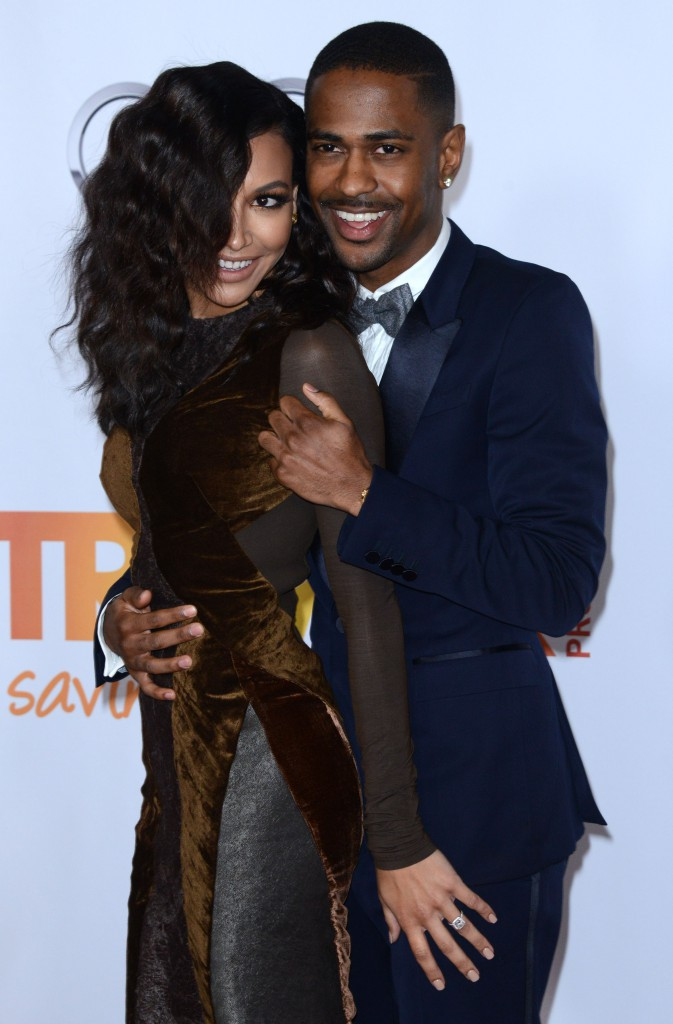 """Naya Rivera et Big Sean lors de la soirée """"TrevorLIVE LA"""" à Hollywood, le 8 décembre 2013."""