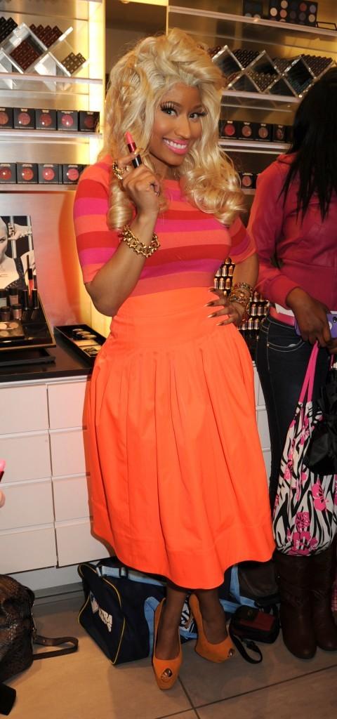 Nicki Minaj en promo dans une boutique MAC de New York, le 15 février 2012.
