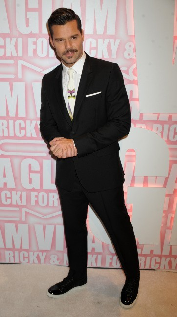 Ricky Martin lors de la MAC Cosmetics Viva Glam Party à New York, le 15 février 2012.