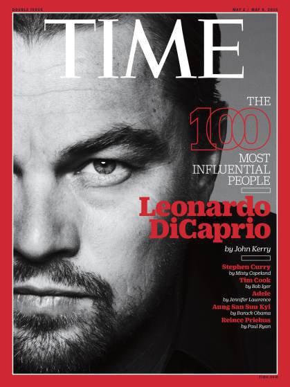 """Photos : Leonardo DiCaprio parmi les personnalités les plus influentes du """"Time"""""""