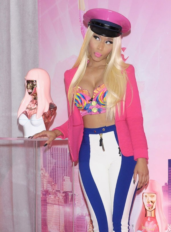Nicki Minaj à New-York le 24 septembre 2012 pour le lancement de son parfum Pink Friday