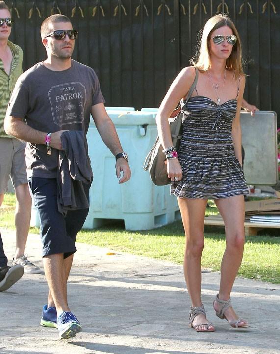 Nicky Hilton et David Katzenberg lors du Festival de Coachella en Califronie, le 15 avril 2011.