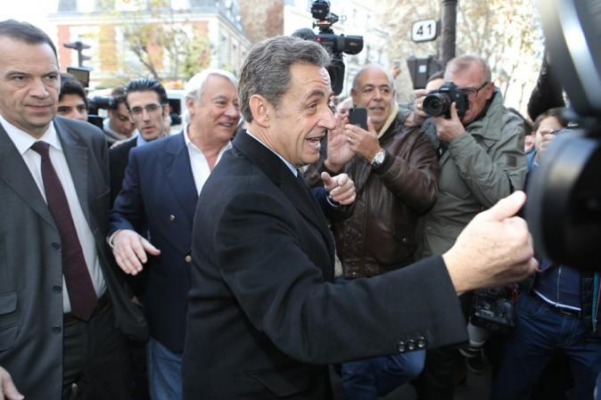 Nicolas Sarkozy à Paris le 29 novembre 2014