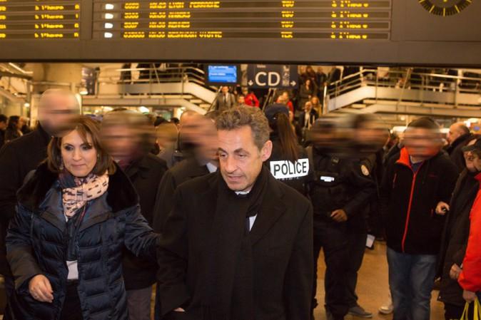 Nicolas Sarkozy à Lyon le 23 janvier 2014