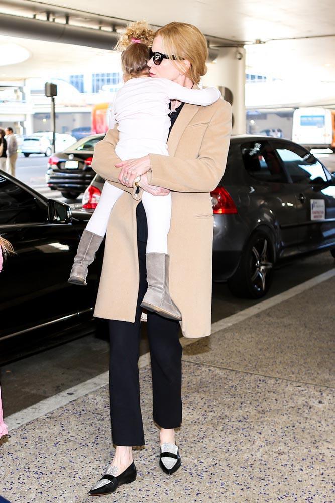 Nicole Kidman à l'aéroport de Los Angeles le 23 septembre 2014