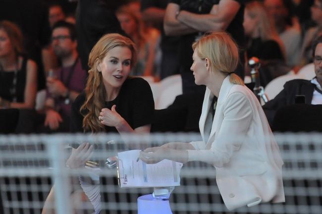 Nicole Kidman et Cate Blanchett lors du festival Tropfest 2012 à Sydney, le 19 février 2012.