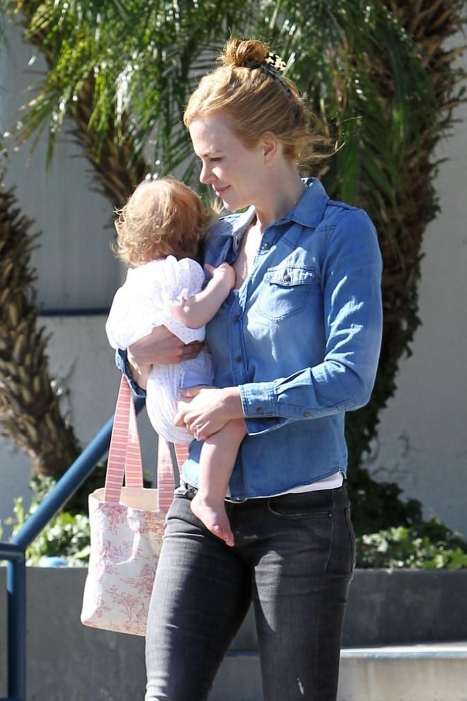 Nicole avec sa petite Faith !