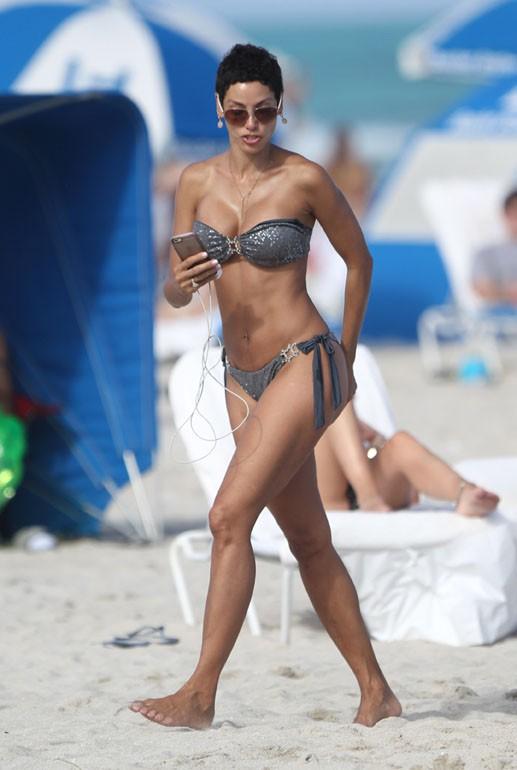 Nicole Murphy à Miami le 1er mars 2015