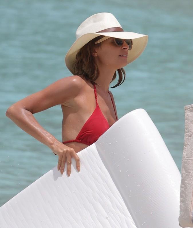 Nicole Richie en vacances à St Barth, le 7 avril 2013.