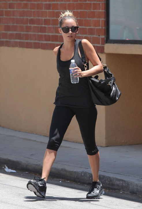 Nicole Richie à la sortie de sa salle de sport hier
