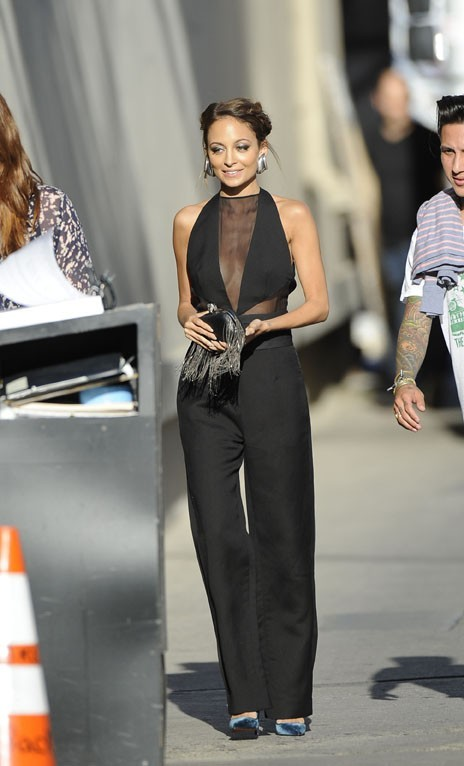 Nicole Richie à son arrivée au Jimmy Kimmel Live, à Los Angeles, le 9 avril 2013