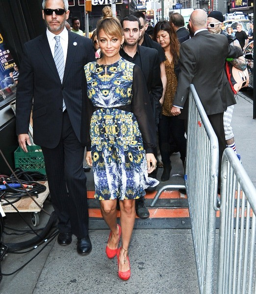 Nicole Richie se rendant sur le plateau de Good Morning America à New York, le 12 septembre 2012.