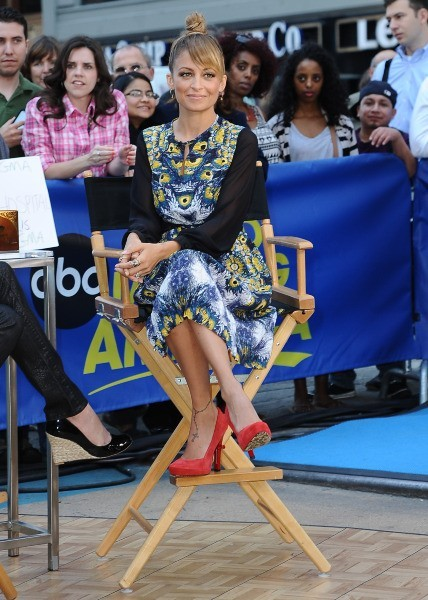 Nicole Richie sur le plateau de Good Morning America à New York, le 12 septembre 2012.
