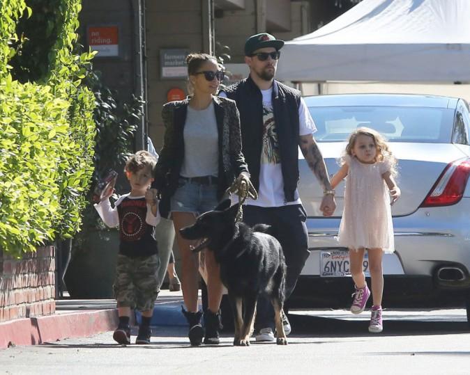 Nicole Richie en famille à Brentwood, le 3 novembre 2013.