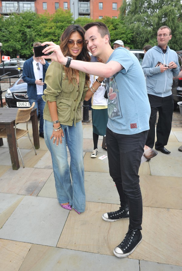 Nicole Scherzinger à Manchester le 8 juillet 2014