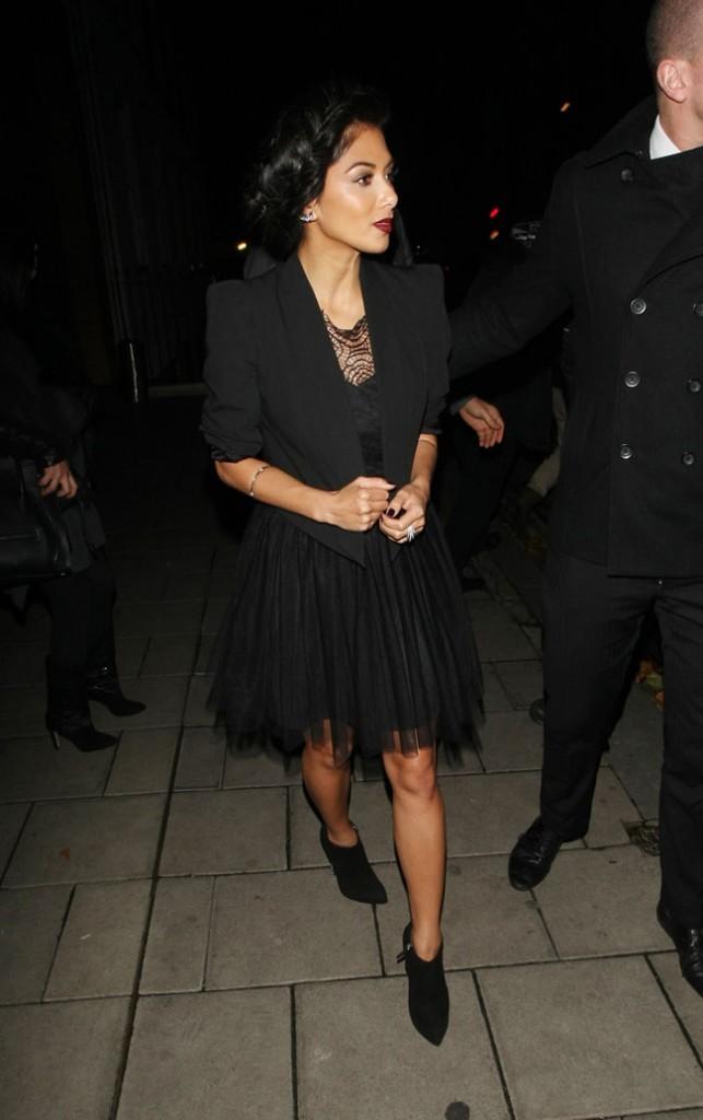 Nicole Scherzinger dans le quartier de Mayfair, à Londres, le 4 novembre 2012