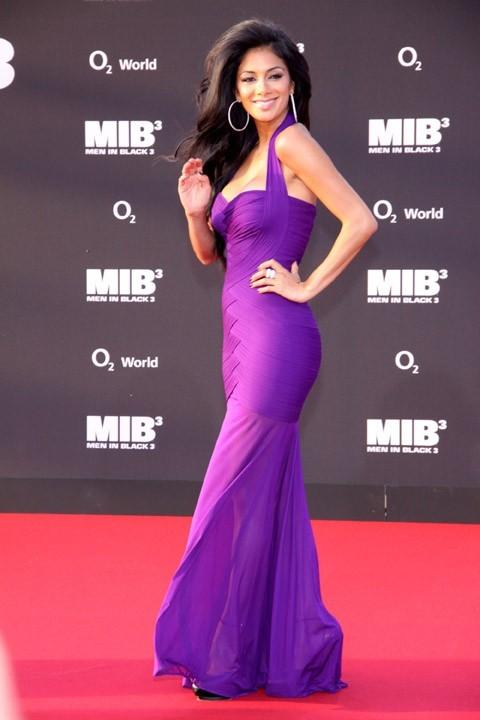 Nicole Scherzinger sur le tapis rouge de MIB III à Berlin le 14 mai 2012