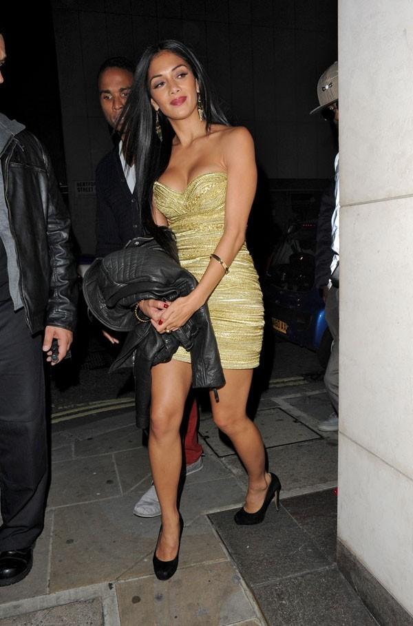 Nicole Scherzinger au concert de Cheryl Cole à Londres le 7 octobre 2012