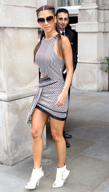 Nicole Scherzinger de sortie à Londres, le 9 août 2013.