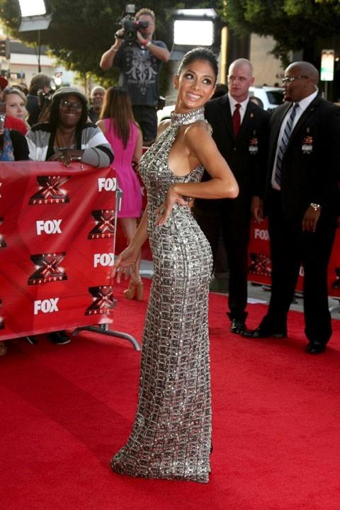 Nicole Scherzinger lors de la première mondiale de l'émission X-Factor US à Hollywood, le 14 septembre 2011.