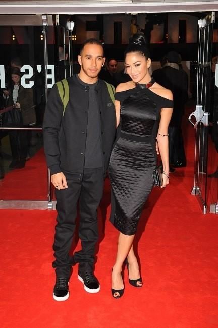 Nicole Scherzinger et Lewis Hamilton le 10 décembre 2012 à Londres