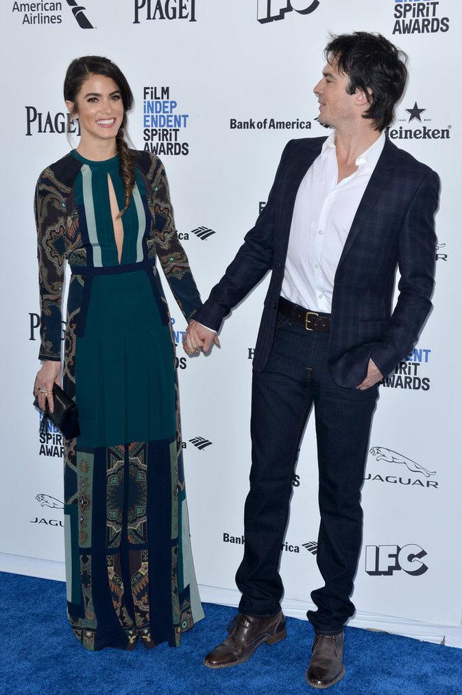 Photos : Nikki Reed et Ian Somerhalder : la vie en rose sur tapis bleu !