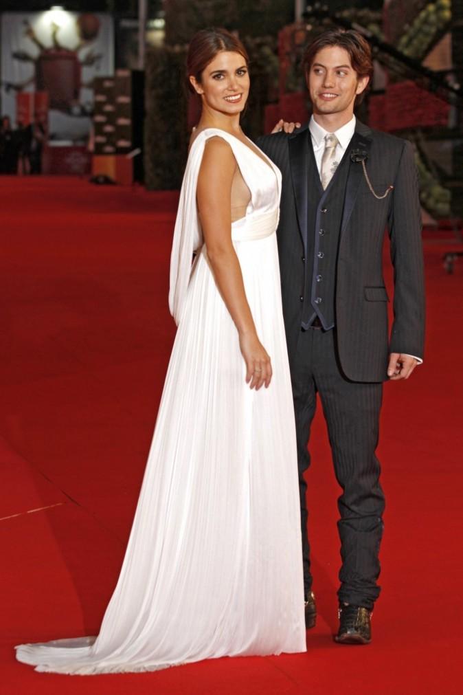 Nikki Reed et Jaskson Rathbone lors de la premère du film Twilight 4 à Rome, le 30 octobre 2011.