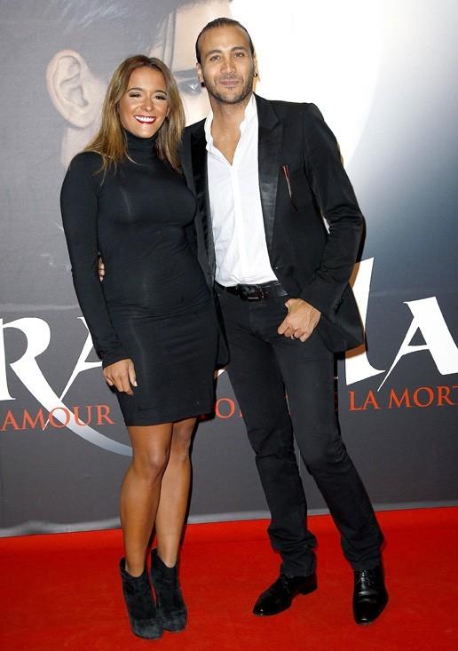 Merwan Rim et sa femme à la générale de Dracula