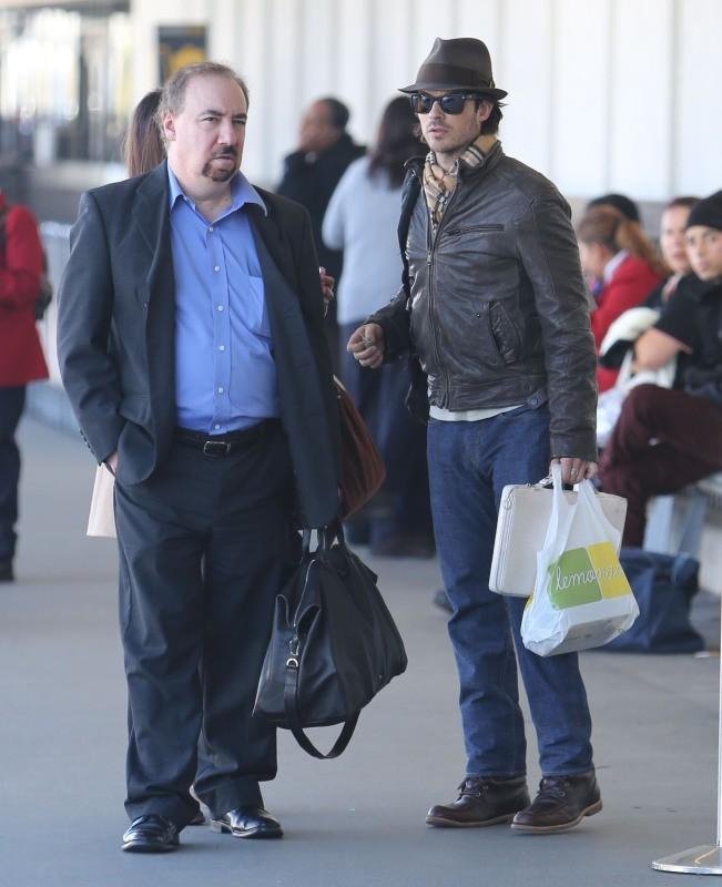 Ian Somerhalder à l'aéroport de Los Angeles, le 26 décembre 2012.