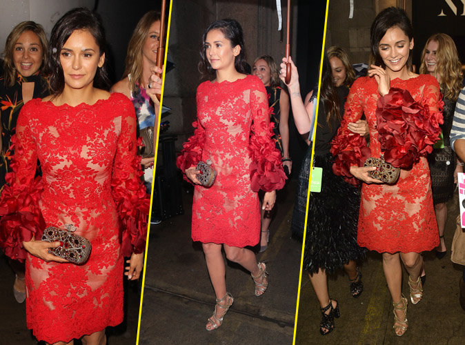 "Photos : Nina Dobrev, la star de ""The Vampire Diaries"" canonesque à New York !"