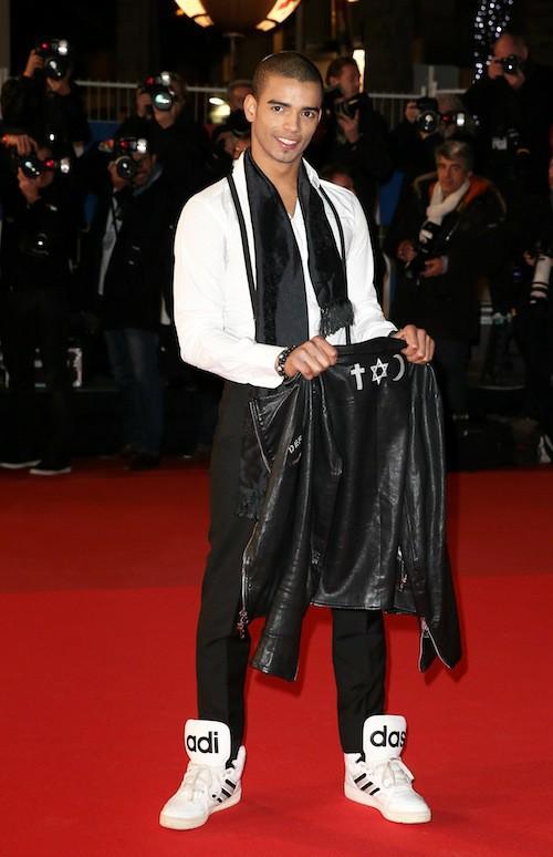 Brahim Zaibat aux NMA 2014 à Cannes, le 13 décembre 2014