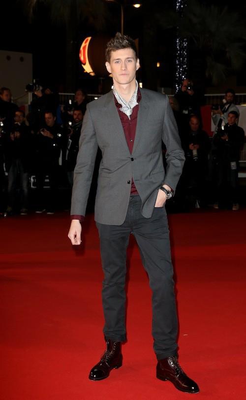 Jean-Baptiste Maunier aux NMA 2014 à Cannes, le 13 décembre 2014