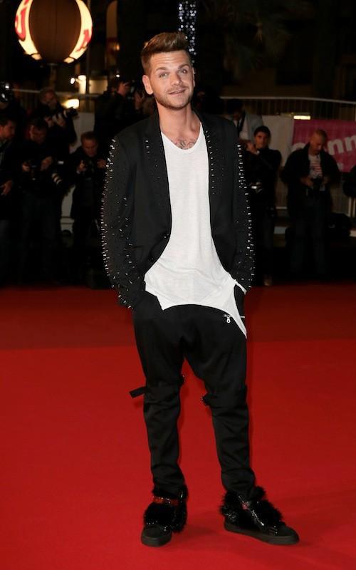 Keen'V aux NMA 2014 à Cannes, le 13 décembre 2014