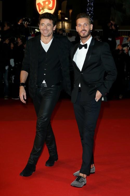 M. Pokora et Patrick Bruel aux NMA 2014 à Cannes, le 13 décembre 2014