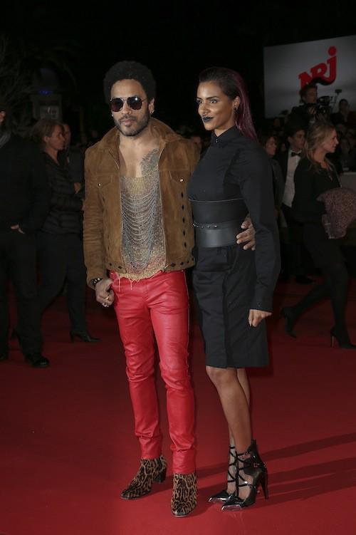 Shy'm et Lenny Kravitz aux NRJ Music Awards à Cannes, le 13 décembre 2014