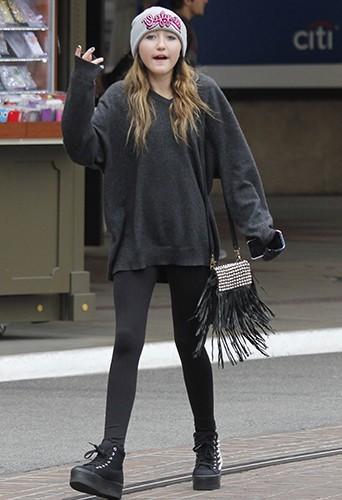 Noah Cyrus à Hollywood le 24 avril 2013