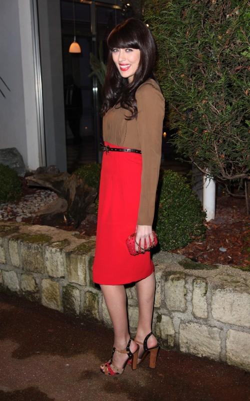 Nolwenn Leroy lors du Dîner de la mode contre le Sida à Paris, le 24 janvier 2013.
