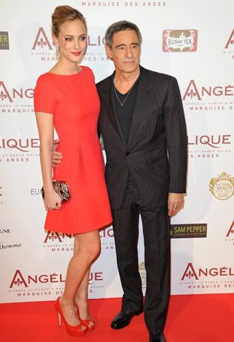 Nora Arnezeder et Gérard Lanvin à Paris le 16 décembre 2013
