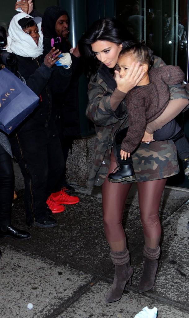 Kim Kardashian et North West le 12 février 2015