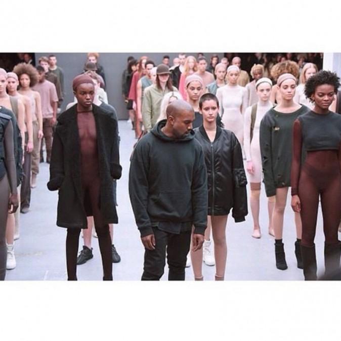 Kanye West durant le défilé Adidas