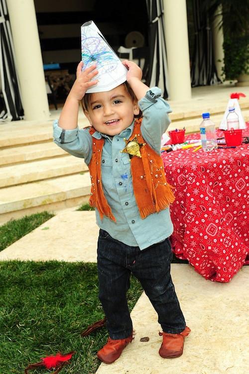 Mason à la fête de ses 2 ans