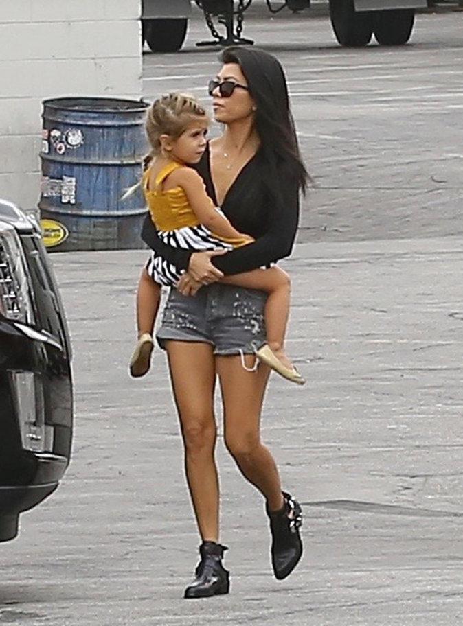 Kourtney Kardashian et Penelope à Los Angeles le 16 octobre 2015